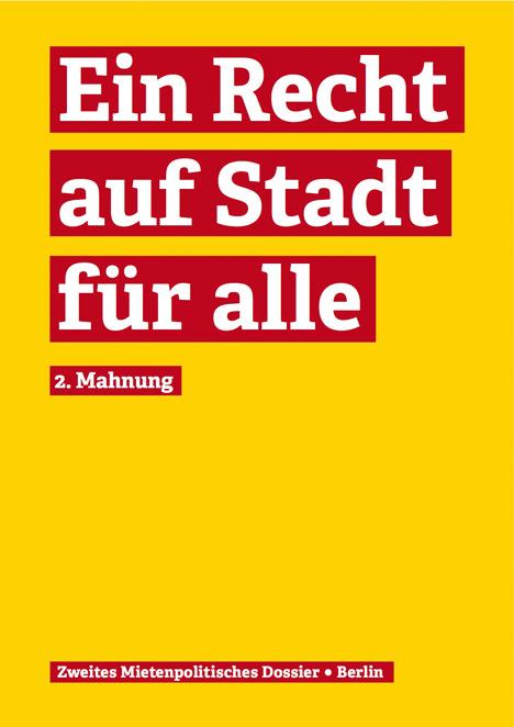 Zweites Mietenpolitisches Dossier als PDF
